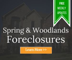Spring & Woodlands Foreclosures Front Page Widget
